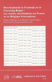 Etudes Neerlandaises En France Et En Belgique Francophone - Couverture - Format classique