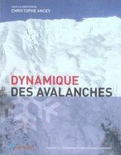 Dynamique des avalanches - Intérieur - Format classique