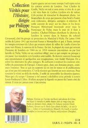 Vichy londres paris - 4ème de couverture - Format classique