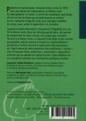 Libres enfants de la maison verte ; sur les traces de Françoise Dolto - 4ème de couverture - Format classique