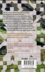 L'Algérie ou la mort des autres - 4ème de couverture - Format classique