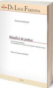 Rituels de justice ; Essai anthropologique sur le relation du temps et de l'espace dans 'Le Procès' - Couverture - Format classique