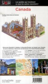 GUIDES VOIR ; Canada - 4ème de couverture - Format classique