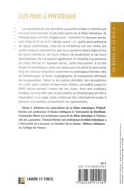 Clés pour le pentateuque ; état de la recherche et thèmes fondamentaux - 4ème de couverture - Format classique