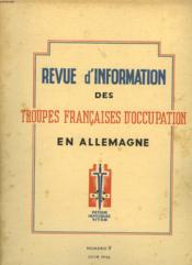 Revue D'Information Des Troupes Francaises D'Occupation En Allemagne - Numero 9 - Couverture - Format classique