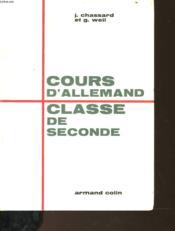 Cours D'Allemand - Couverture - Format classique
