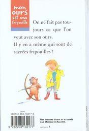 Mon Ours Est Une Fripouille (Anc Edition) - 4ème de couverture - Format classique