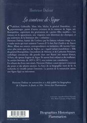 La Comtesse De Segur Nee Rostopchine - 4ème de couverture - Format classique