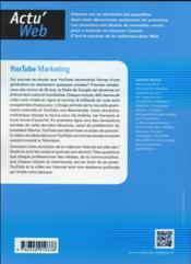 Youtube marketing. videos en ligne et strategies de contenus : le nouveau storytelling - 4ème de couverture - Format classique
