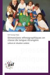 Dimensions ethnographiques en classe de langue étrangère - Couverture - Format classique