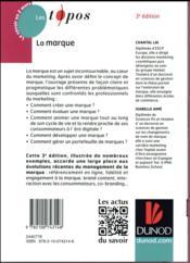La marque (3e édition) - 4ème de couverture - Format classique