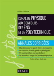 Réussir l'oral de physique aux concours des ENS et de polytechnique - Couverture - Format classique