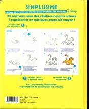 Simplissime ; le livre le + facile du monde pour dessiner les animaux Disney - 4ème de couverture - Format classique