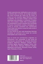 Féminismes dans le monde ; 23 récits d'une révolution planétaire - 4ème de couverture - Format classique
