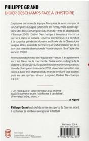 Didier Deschamps face à l'histoire - 4ème de couverture - Format classique