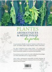 Plantes aromatiques et médicinales du jardin - 4ème de couverture - Format classique