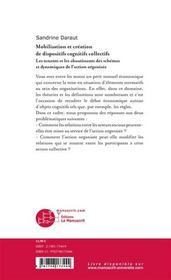 Mobilisation et création de dispositifs cognitifs collectifs - 4ème de couverture - Format classique