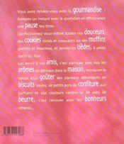 Cookies et muffins - 4ème de couverture - Format classique