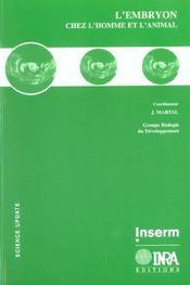 L'embryon chez l'homme et l'animal - Intérieur - Format classique