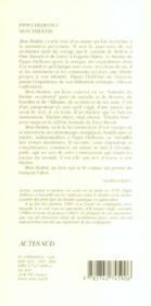 Pippo delbono, mon theatre - 4ème de couverture - Format classique