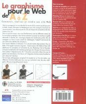 Le graphisme pour le web de a a z - 4ème de couverture - Format classique