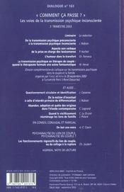 Dialogue N.161 - 4ème de couverture - Format classique