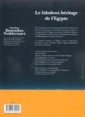 Le fabuleux heritage de l'egypte - 4ème de couverture - Format classique