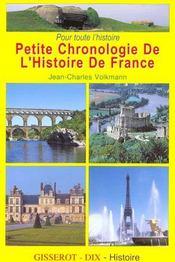 Petite chronologie de l'histoire de France - Intérieur - Format classique