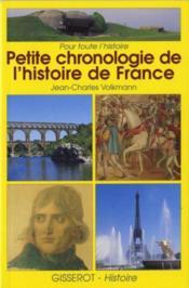Petite chronologie de l'histoire de France - Couverture - Format classique