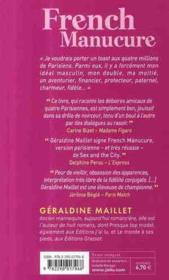 French manucure - 4ème de couverture - Format classique