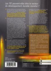 T.I.C. et développement durable ; les conditions du succès - 4ème de couverture - Format classique