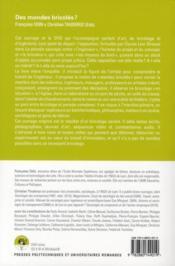Des mondes bricolés ? arts et sciences à l'épreuve de la nottion de bricolage - 4ème de couverture - Format classique