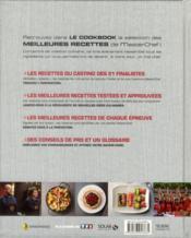 Masterchef ; Le Cookbook Saison 2 - 4ème de couverture - Format classique