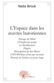 L'Espace Dans Les Oeuvres Butoriennes - Couverture - Format classique