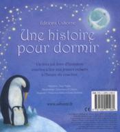 Une histoire pour dormir - 4ème de couverture - Format classique