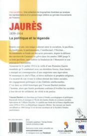 Jaurès 1859-1914 - 4ème de couverture - Format classique