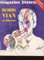 Magazine Litteraire N°182 - Boris Vian En Liverte - Couverture - Format classique