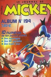 Le Journal De Mickey. Album N°194. Recueil De 10 Numeros. - Couverture - Format classique