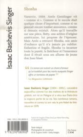 Shosha - 4ème de couverture - Format classique