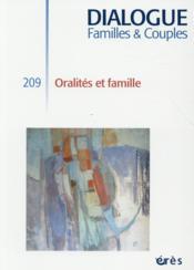 DIALOGUE N.209 ; oralités et famille - Couverture - Format classique