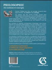 Philosophie : 160 notions et concepts - 4ème de couverture - Format classique