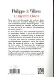 Le mystère Clovis - 4ème de couverture - Format classique