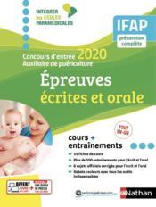 Concours entrée auxiliaire puériculture ; épreuves écrites et orale (édition 2020) - Couverture - Format classique