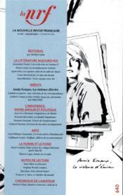 La nouvelle revue francaise N.640 - Couverture - Format classique
