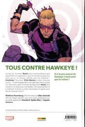 Hawkeye ; chute libre - 4ème de couverture - Format classique