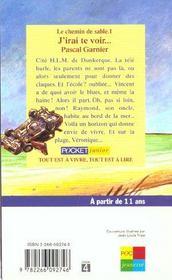 Le Chemin De Sable T.1 ; J'Irai Te Voir - 4ème de couverture - Format classique