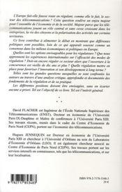 Reguler Le Secteur Des Telecommunications - 4ème de couverture - Format classique