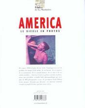 America - Le Siecle En Photos - 4ème de couverture - Format classique