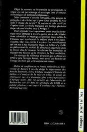 Du Noir Au Negre ; L'Image Du Noir Au Theatre ; 1550-1960 - 4ème de couverture - Format classique