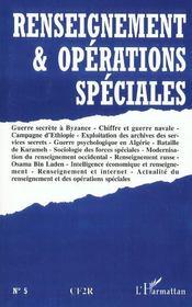 Renseignement Et Operations Speciales - Intérieur - Format classique
